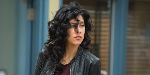 "BROOKLYN NINE-NINE -- ""Operation Broken Feather"" Episode 116 -- Pictured: Stephanie Beatriz as Rosa Diaz -- (Photo by: Eddy Chen/NBC/NBCU Photo Bank via Getty Images)"
